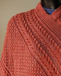 Ravelry: Irish Knit Poncho pattern by Adele Huey McCall