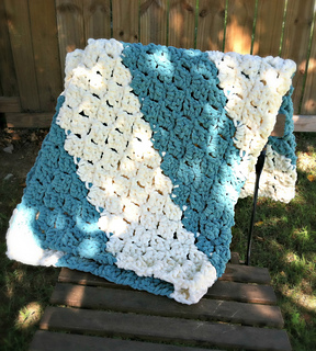 Ravelry Quick And Easy Baby Blanket Pattern By Amanda Saladin