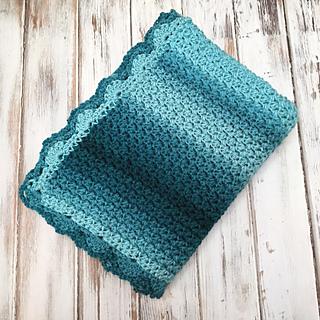 Elegant Ombre Baby Blanket pattern by Amanda Saladin