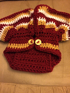 Ravelry Baby Football And Cheer Diaper Cover And Hat