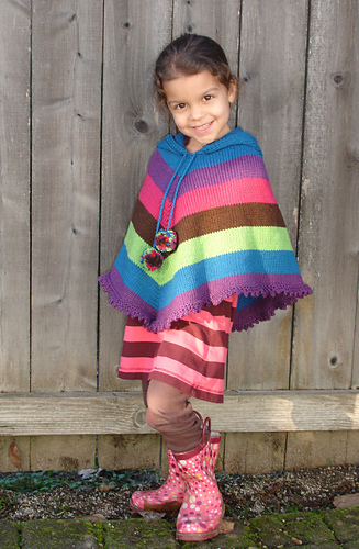 Ravelry: # 243 Children\'s Poncho pattern by Diane Soucy