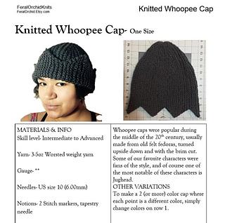 Ravelry  Whoopee Cap (The Jughead Hat) pattern by Shantea Walker 3885df456cf
