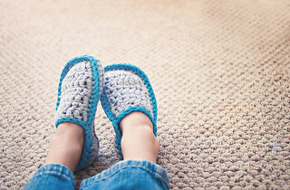 Ravelry: Kids House Slippers pattern by Sarah Lora