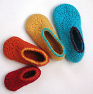 62a0c1365135c Easy Felted Crochet Kids Slippers pattern by Sarah Lora