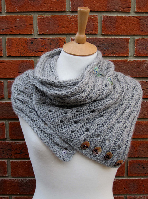 Ravelry Rib Lace Scarfcowl Pattern By Fiona Morris