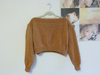8a0ed93dccc0 Ravelry  Cropped Boatneck Sweater pattern by Vi Bui