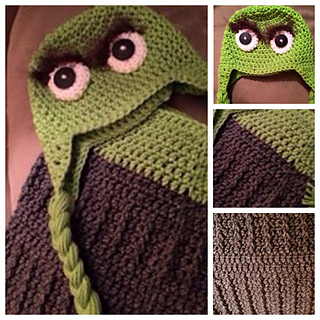Oscar the Grouch Photo Prop pattern by Sweet Southern Stitches