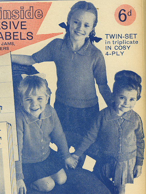 Ravelry Vintage 1965 Kids Jumper And Cardigan Pattern By Womans Weekly