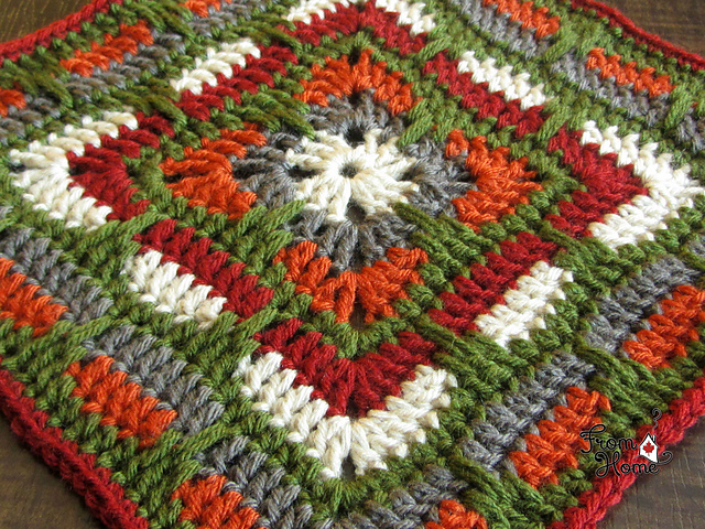 Ravelry Larksfoot Inspired 12 Granny Square Pattern By From Home