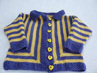 774ae6a92 Ravelry  One Piece Baby Jacket. pattern by Jane Terzza