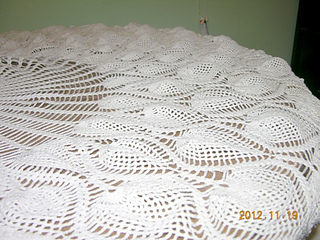 Ravelry Round Pineapple Tablecloth 7592 Pattern By The Spool