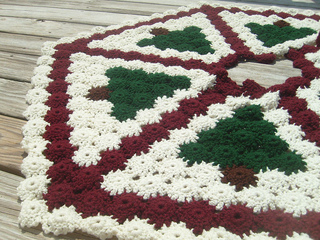 Ravelry: Primitive Pines Christmas Tree Skirt pattern by ...