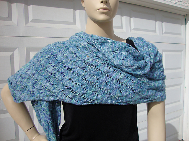 Ravelry Reversible Cable Clapotis Shawl Or Scarf Pattern By Gail Knits