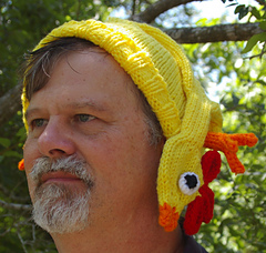 Ravelry  Rubber Chicken Hat pattern by Gari Lynn bf46e55a838