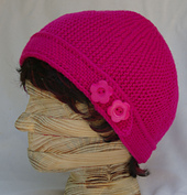 Rachel_beanie_sports_weight_hot_pink_red_heart_side_view_with_buttons_back_small_best_fit