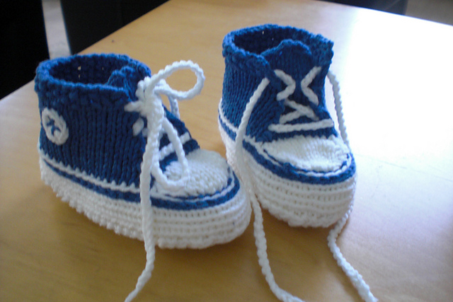 Ravelry Baby Converse Gestrickt Pattern By Cillidesign