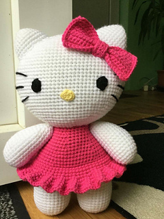 Ravelry: Big Hello Kitty pattern by Ella D Design