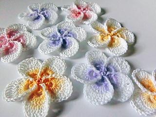 Hawaiian plumeria flower crochet pattern free flowers healthy