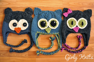 Ravelry  Owl Be There Family of Animal Hats pattern by Lauren Riker 48871ab6414
