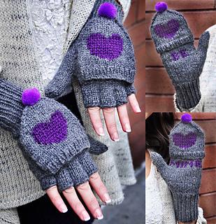 "Ravelry: ""Be My Valentine"" Flirty Fingerless Gloves with ..."