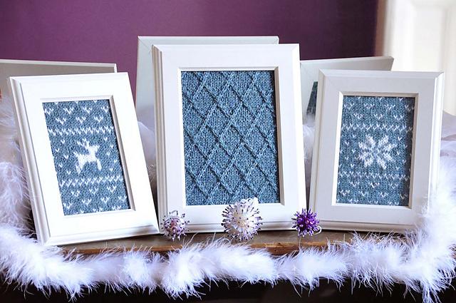 """Ravelry: """"Fair Isle Flurries"""" Knitted Wall Art pattern by Lauren Riker"""