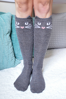 Check Meowt Cat Owl And Panda Knee High Socks Pattern Ravelry