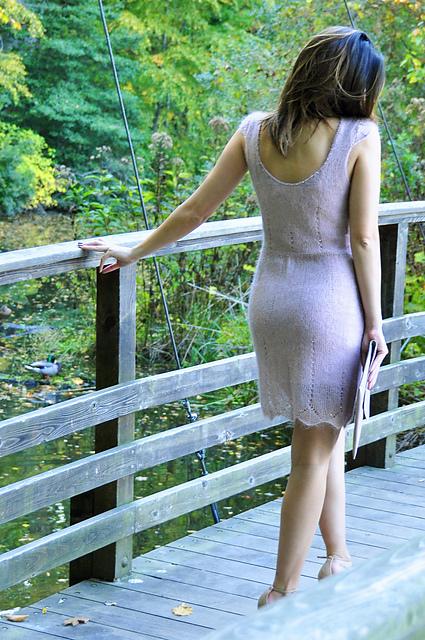 Ravelry Sheer Elegance Beaded Lace Dress Pattern By Lauren Riker