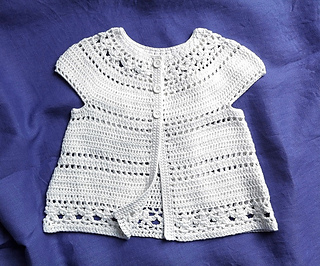 52f14f7aac654 Ravelry  Gina - floral lace baby child cardigan pattern by Vicky Chan