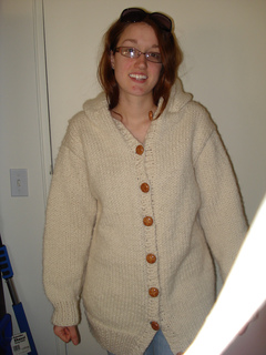 4c1f2af71062 Ravelry  Hand-Knit Danbury Hooded Sweater Jacket pattern by Lion Brand Yarn