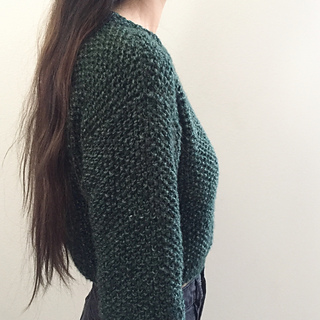 d624443ef Ravelry  Valencia Cropped Sweater pattern by Gorillaknits