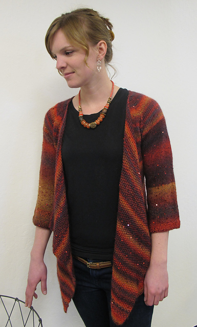 Ravelry 1302 Top Down Drape Front Cardigan Pattern By Diane Soucy