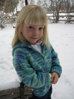 4924b1144 Ravelry    981 Children s Neck Down Cardigan pattern by Diane Soucy