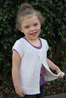 e7a76382f9cd Ravelry    106 Girls Cap Sleeve Cardigan Vest pattern by Diane Soucy