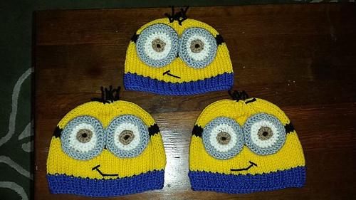 Knitting Pattern For Minion Beanie : Ravelry: Knit yellow minion hat pattern by Gem Rench
