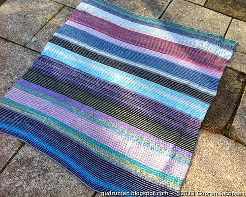 Ravelry Knitted Blanket With Scrap Yarn Pattern By Gurun Jacobsen