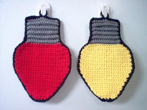 Ravelry Christmas Lights Dishclothpotholder Pattern By Linda Bohrn