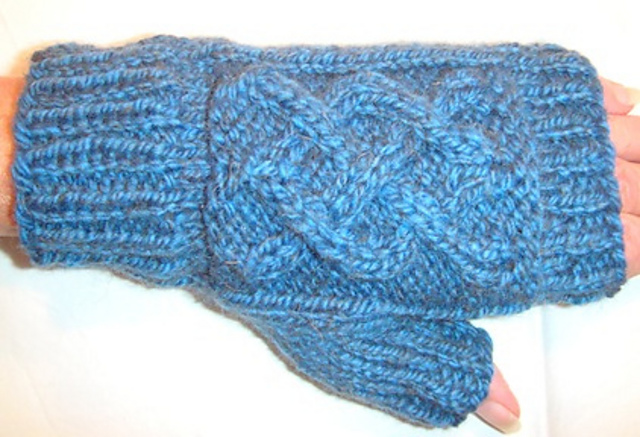 Cable Mitts by Judy M. Ellis, Handiwords Ltd LLC