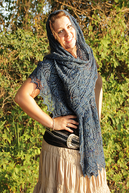 Midsummer Night Shawl by Judy M. Ellis, Handiwords Ltd LLC