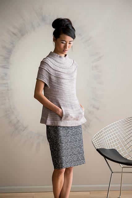 Ruched Yoke Sweater