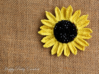 Ravelry beaded sunflowers pack patterns large sunflower fandeluxe PDF