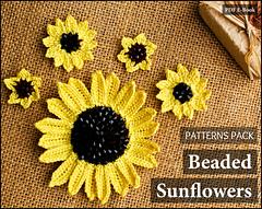 Ravelry beaded sunflowers pack patterns patterns beaded sunflowers pack fandeluxe PDF