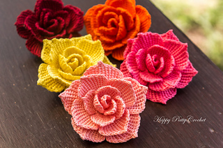 Ravelry rose flower applique pattern by happy patty crochet happy patty crochet ccuart Gallery