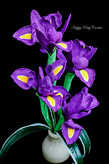 ravelry iris pattern by happy patty crochet  iris flower crochet diagram list of
