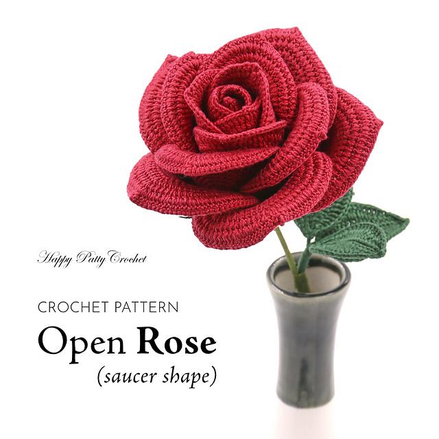 Ravelry Rose Open Saucer Shape Pattern By Happy Patty Crochet
