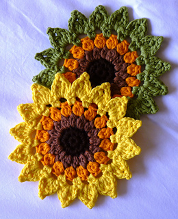 Ravelry Sunflowers Coasters And Placemats Pattern By Happy Heart
