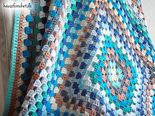 Ravelry Bunte Granny Square Decke Pattern By Romina Müller