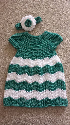 Ravelry Chevron Chic Baby Dress Pattern By Lorene