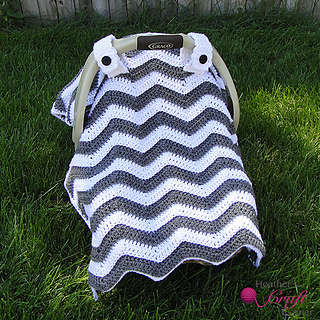 Ravelry Chevron Car Seat Canopy Blanket Tent Cover pattern by Heather Ormond & Ravelry: Chevron Car Seat Canopy Blanket Tent Cover pattern by ...