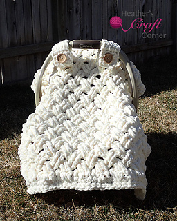 & Ravelry: Chunky Celtic Weave Car Seat Canopy pattern by Heather Ormond