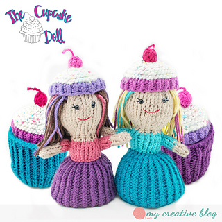 2803fe3d1 Cupcake Topsy-Turvy Doll pattern by The Ginger Hooker